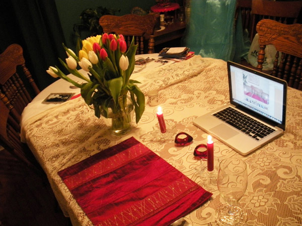 dinner together long distance relationship view