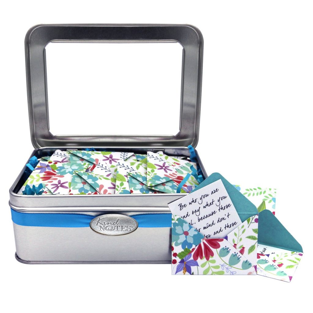KindNotes Tin Keepsake Gift Box with Long Distance Missing You Messages